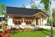 DOM.PL™ - Projekt domu ARC Ares bez garażu CE - DOM AR8-76 - gotowy koszt budowy Village House Design, Bungalow House Design, Village Houses, Modern House Design, Cottage Exterior, Design Case, Home Fashion, Cottage Homes, Cabana