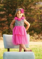 Look at this Mud Pie Hot Pink Leopard Rosette Dress - Infant, Toddler & Girls by Mud Pie Fashion Kids, Girl Fashion, Frilly Dresses, Flower Girl Dresses, Leopard Dress, Pink Leopard, Designer Kids Clothes, Chiffon Skirt, Little Princess