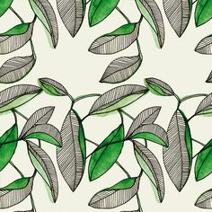 by Marina Molares Love, love this! could be fun with gold and blues. Textile Patterns, Textiles, Textile Design, Surface Pattern Design, Pattern Art, Pretty Patterns, Color Patterns, Botanical Illustration, Illustration Art