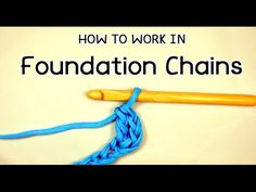 How to #Crochet in Foundation chains | #PatronesValhallaENG