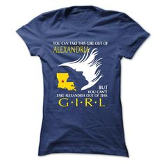 Alexandria - Louisiana Girl T Shirts, Hoodies. Check price ==► https://www.sunfrog.com/LifeStyle/Alexandria--Louisiana-Girl-38719882-Ladies.html?41382