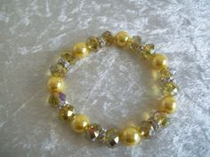 Crystal and pearl elasticated bracelet £6.00