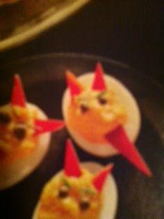 All About Halloween: Deviled Eggs Halloween Idea