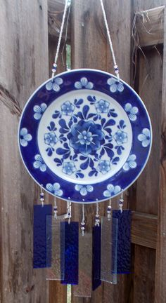 Cobalt Blue Bread or Dessert Plate Upcycled into a  by hunter5220, $40.00