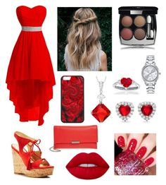 """""""Red sandals (part 2)"""" by laurenthomson29 ❤ liked on Polyvore featuring Ivanka Trump, Loeffler Randall, Lime Crime, Journee Collection, Sterling Essentials, Mestige and Chanel"""