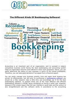 Accounting is an important part of an organization, and to succeed in today's competitive business world having the best bookkeeping and accounting system helps an organization become more efficient in their work processes. Read full post here @Scribd.