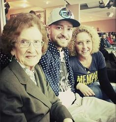 78e347f1a justintimberlake 2 hours ago Throwback to December at the Grizz game with  my Mom and her Mom! to ALL of the Mommies out there! You DA REAL MVPs EVERY  DAY!
