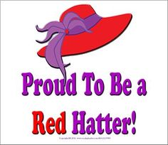 Proud to be a Red Hatter! Actually I am a member of the Red Hat and Purple Chaps Society.  The on RHPC chapter in Oklahoma.  We were established Feb of 2011.  We are an equestrian group of the Red Hat Society, one of about 8 in the nation.