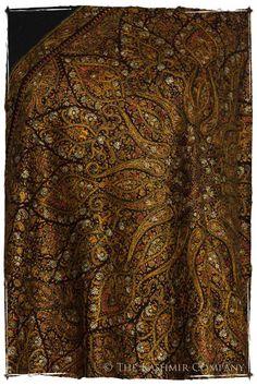 The Golden Tapestry - Grand Pashmina Shawl Bridal Dupatta, Kashmiri Shawls, Kurti Embroidery Design, Pretty Designs, Pashmina Shawl, Wearable Art, Paisley, Textiles, Tapestry
