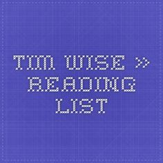 Tim Wise » Reading List