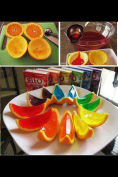 Party food...wonder if you pick the right color jello if it would glow in black lightt? Cute presentation and good for your health Want to lose weight and more Check out this here http://belfit.com