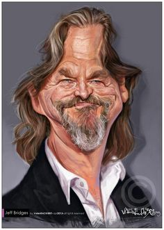 Jeff Bridges por Valentin Chibrit