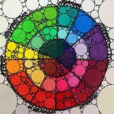 Color Wheel Design, Color Wheel Art, Analogous Color Wheel, Color Wheel Tattoo, Circle Design, Elements And Principles, Elements Of Art, Color Wheel Projects, Art Projects