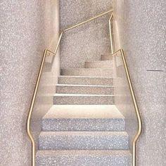 terrazzo stairway More Architecture Details, Interior Architecture, Interior And Exterior, Interior Design, Interior Photo, Interior Staircase, Staircase Design, Modern Staircase, Floating Staircase
