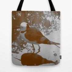 Black-winged Stilt - Sepia Tote Bag