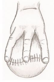 softball pitcher's grip for fastball
