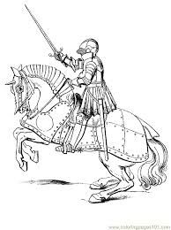 Printable Knight on Horseback