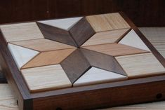 Hardwood Geometric Quilter's Small Puzzle by sanderswoodworking Reclaimed Wood Wall Art, Wooden Wall Art, Wood Art, Woodworking For Kids, Woodworking Projects, Unique Woodworking, Diy Wood Projects, Wood Crafts, Wood Games