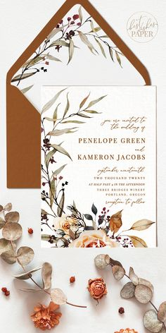 Amber- our earthy Boho Wedding Stationary collection in fall hues- perfect for woodland-themed or outdoor rustic weddings. Mega bundle available- seating charts, custom signs, table numbers and so much more. Wedding Invitation Background, Wedding Invitation Video, Fall Wedding Invitations, Wedding Stationary, Wedding Invitation Templates, Invitation Wording, Invitation Suite, Wedding Favors, Wedding Cards