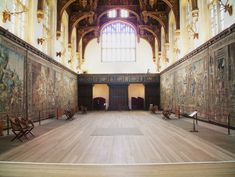 State Apartments of Henry the VIII | The Great Hall.  Someday I will get to see this in person.  Someday.