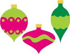 Silhouette Design Store - View Design #4370: Christmas ornaments-simple