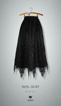 -Pixicat- Dusk.Skirt (Black)