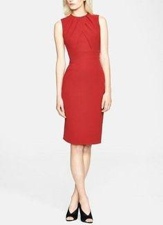 Burberry London Red Silk Dress