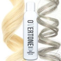 """(CS: this the lighter shade; next shade is labeled """"deep"""") oVertone Vibrant Silver Daily Conditioner is a vegan, damage-free way to add color to your hair and keep the color looking fresh Stop Grey Hair, Grey Hair Dye, Silver Grey Hair, Faded Hair, Do It Yourself Fashion, Corte Y Color, Tips Belleza, Pretty Hairstyles, Hair And Nails"""