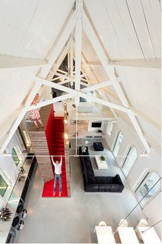 Amazing radical transformation from church into house in The Netherland. Amazing open spacies and funny ideas in this interior.