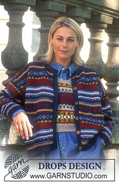 DROPS 44-7 - DROPS Jacket and waist coat in Karisma with border - Free pattern by DROPS Design