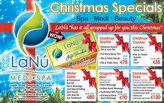 Looking for Christmas gift ideas to treat your loved ones? We have just put up fabulous Christmas #spa and #BeautySalon packages, that makes a wonderful gift for that someone special in your life or if you just need something for yourself at this busy time – guaranteed to make you merry and bright. Gift Vouchers with 25% extra FREE is available for all our Fabulous Day Spa Treatments. Take a look at our full #Christmas menu and choose one for even more reasons to visit LaNu Medi Spa… Nail Treatment, Spa Treatments, Spa Specials, Hd Brows, Christmas Offers, Spa Packages, Beauty Packaging, Gift Vouchers