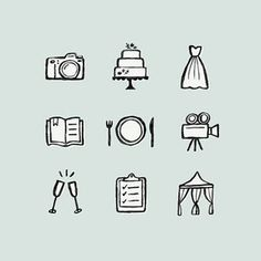 I love making icons, especially when it's for a client who is sweet as can be! I had so much fun making these for @theweddingstandard