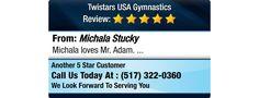 Michala loves Mr. Adam.