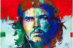 15 Unknown Interesting Facts About Che Guevara Voka Art, Portrait Art, Portraits, Abstract Face Art, Artist Art, Painting Techniques, Painting Inspiration, Contemporary Art, Street Art