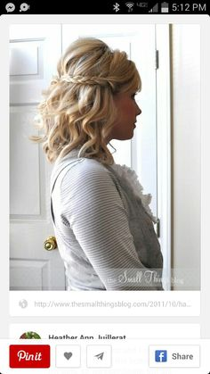 11 beautiful braids for short hair hair & makeup короткие во Up Hairstyles, Pretty Hairstyles, Braided Hairstyles, Hairstyle Ideas, Hairstyle Short, Simple Hairstyles, Short Formal Hairstyles, Perfect Hairstyle, Bohemian Hairstyles