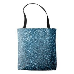 Beautiful Baby blue glitter sparkles All Over Print Tote Bag by #PLdesign #sparkles #BlueSparkles #SparklesGift