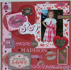 <title>How to Make a Beautiful Layered Valentine's Layout   Scrap-aholic