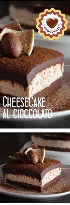 Cheesecake al cioccolato (riciclo uova di Pasqua)