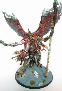 Warhammer Age of Sigmar   Tzeentch Daemons   Kairos Fateweaver #warhammer #ageofsigmar #aos #sigmar #wh #whfb #gw #gamesworkshop #wellofeternity #miniatures #wargaming #hobby #fantasy
