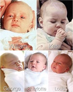 Baby Cambridges ❤️ Who looks like who? I could literally sees the resemblance between Princess Charlotte and Prince Louis!