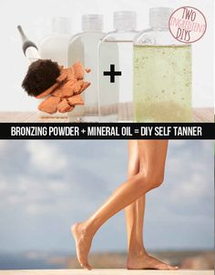 Make your own safe self-tanner. | 27 Insanely Easy Two-Ingredient DIYs