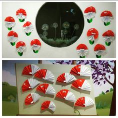 Red n White accordeon fold to portray Indonesian flag in celebrating Independent Day of Indonesia August 17th. An easy diy craft for 3-6 y.o kids love to make.