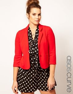 ASOS CURVE Jacket With Curved Lapel $36.94