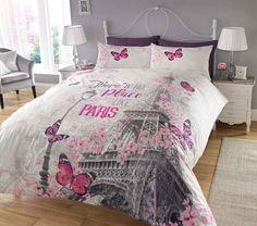 Paris Romance Printed Multi Duvet Quilt Cover Set — Linens Range