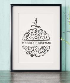 Merry Christmas, Christmas design, SVG, DXF, PNG, EPS ,CDR, PDF, print and cut files for tattoo design, t-shirt design, sticker, wall decor, scroll saw, car decal. Digital template/stencil files for use with Silhouette, Cricut and other Vinyl Cutters and printing machine.