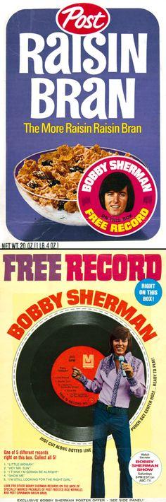 1970 Raisin Bran / Bobby Sherman promo