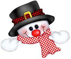 Cute Snowman PNG Clipart