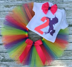 Unicorn 2nd Birthday Outfit for Girl Outfit by ChristiCreations