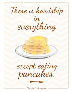 Pancakes Quote Art Printable Charles Spurgeon by EvieDesignShop