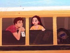 Heart eyes on the bus ride 💕 Lara Jean, Fanart, I Still Love You, Film Serie, Series Movies, Katniss Everdeen, Movies Showing, Hermione Granger, Cute Drawings